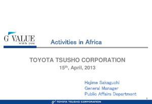 Activities in Africa