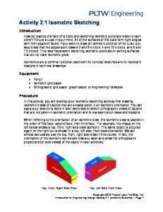 Activity 2.1 Isometric Sketching