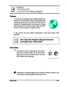 ACTIVITY B: Falling Objects