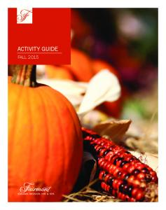 ACTIVITY GUIDE FALL 2015