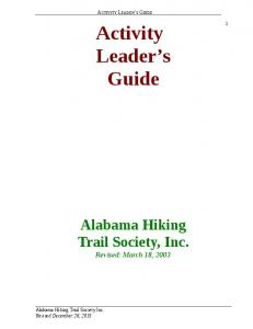 Activity. Leader s Guide