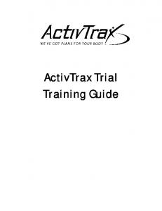 ActivTrax Trial Training Guide