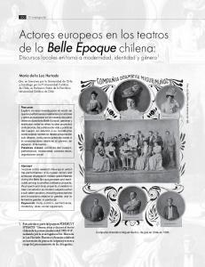 Actores europeos en los teatros de la Belle Epoque chilena: