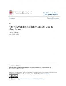 Acts-Hf: Attention, Cognition and Self-Care in Heart Failure