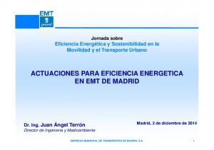 ACTUACIONES PARA EFICIENCIA ENERGETICA EN EMT DE MADRID