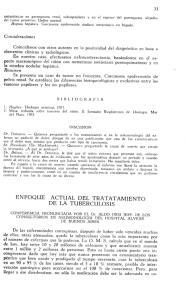 ACTUAL DEL TRATATAMIENTO DE LA TUBERCULOSIS