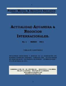 ACTUALIDAD ADUANERA & NEGOCIOS INTERNACIONALES