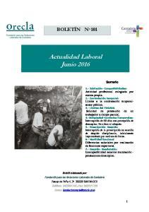 Actualidad Laboral Junio 2016