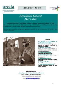 Actualidad Laboral Mayo 2016