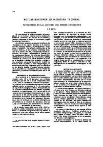 ACTUALIZACIONES EN MEDICINA TROPICAL
