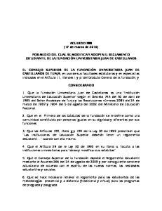 ACUERDO 388 (17 de marzo de 2016) POR MEDIO DEL CUAL SE MODIFICA Y ADOPTA EL REGLAMENTO ESTUDIANTIL DE LA FUNDACIÓN UNIVERSITARIA JUAN DE CASTELLANOS