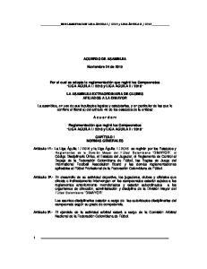 ACUERDO DE ASAMBLEA. Noviembre 24 de 2015