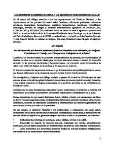 ACUERDO ENTRE EL GOBIERNO NACIONAL Y LOS GREMIOS DE TRABAJADORES DE LA SALUD