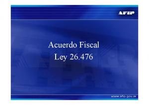 Acuerdo Fiscal Ley