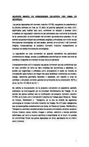 ACUERDO MARCO DE NEGOCIACION COLECTIVA POR RAMA DE ACTIVIDAD
