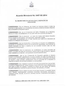 Acuerdo Ministerial No SE-2014
