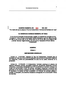 ACUERDO MUNICIPAL NO DEL 2001
