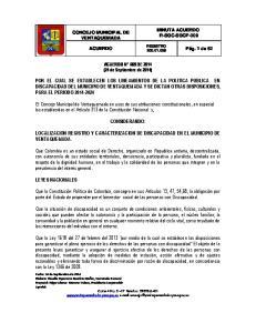 ACUERDO N 009 DE 2014 (24 de Septiembre de 2014)