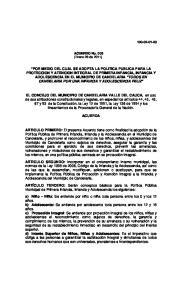 ACUERDO No. 003 (Enero 28 de 2011)