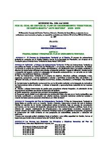 ACUERDO No. 005 del 2000 POR EL CUAL SE EXPIDE EL PLAN DE ORDENAMIENTO TERRITORIAL DE SANTA MARTA JATE MATUNA