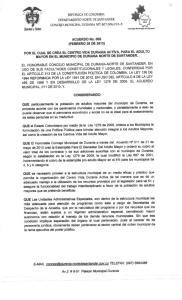 ACUERDO No. 005 (FEBRERO 20 DE 2013)