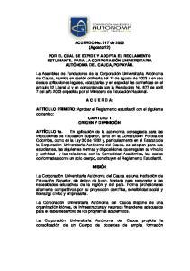 ACUERDO No. 017 de 2003 (Agosto 12)