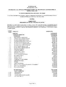 ACUERDO No 018 (Noviembre 29 de 2012) POR MEDIO DEL CUAL SE FIJA EL PRESUPUESTO GENERAL DEL MUNICIPIO DE EL SANTUARIO PARA LA VIGENCIA FISCAL 2013