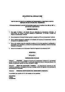 ACUERDO No. 029 de ( )