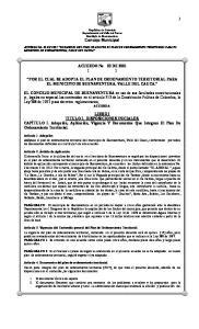 ACUERDO No 03 DE 2001 ( ) POR EL CUAL SE ADOPTA EL PLAN DE ORDENAMIENTO TERRITORIAL PARA EL MUNICIPIO DE BUENAVENTURA, VALLE DEL CAUCA