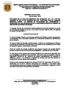 ACUERDO No 03 de 2014 (19 de marzo 2014)