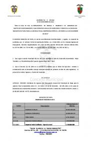 ACUERDO No 9 DE DE NOVIEMBRE DE 2012