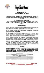 ACUERDO No._031_ (03 DICIEMBRE DE 2013)