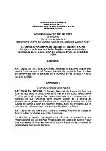 ACUERDO NUMERO 001 DE 2002 (5 de junio)