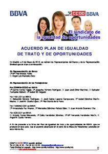 ACUERDO PLAN DE IGUALDAD DE TRATO Y DE OPORTUNIDADES