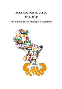 ACUERDO POR EL CUSCO Por un desarrollo inclusivo y sostenible