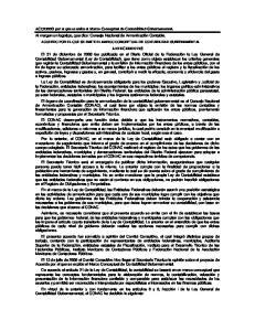 ACUERDO POR EL QUE SE EMITE EL MARCO CONCEPTUAL DE CONTABILIDAD GUBERNAMENTAL