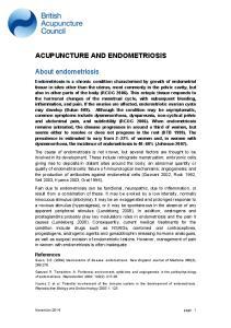 ACUPUNCTURE AND ENDOMETRIOSIS