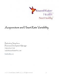 Acupuncture and Heart Rate Variability