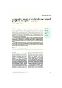 Acupuncture treatment for chemotherapy-induced peripheral neuropathy a case series