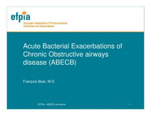 Acute Bacterial Exacerbations of Chronic Obstructive airways disease (ABECB)