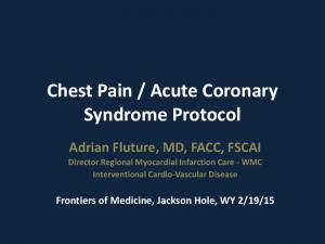 Acute Coronary Syndrome Protocol
