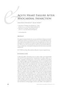 Acute Heart Failure After Myocardial Infarction