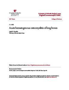 Acute hematogenous osteomyelitis of long bones
