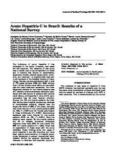 Acute Hepatitis C in Brazil: Results of a National Survey