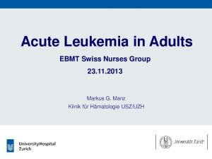 Acute Leukemia in Adults