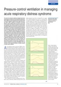 Acute respiratory distress syndrome (ARDS) is characterised. Pressure-control ventilation in managing acute respiratory distress syndrome REVIEW