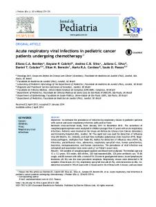 Acute respiratory viral infections in pediatric cancer patients undergoing chemotherapy