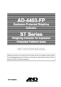 AD-4403-FP. ST Series