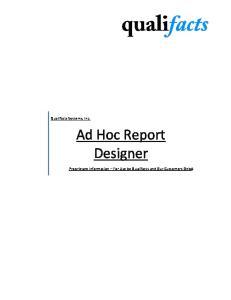 Ad Hoc Report Designer