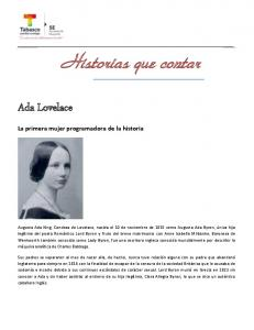 Ada Lovelace. La primera mujer programadora de la historia